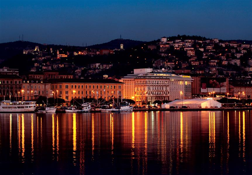 Rijeka - A Beautiful Croatian City At Night
