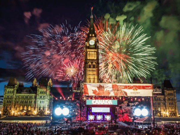 New Year Celebration in Ottawa, Canada