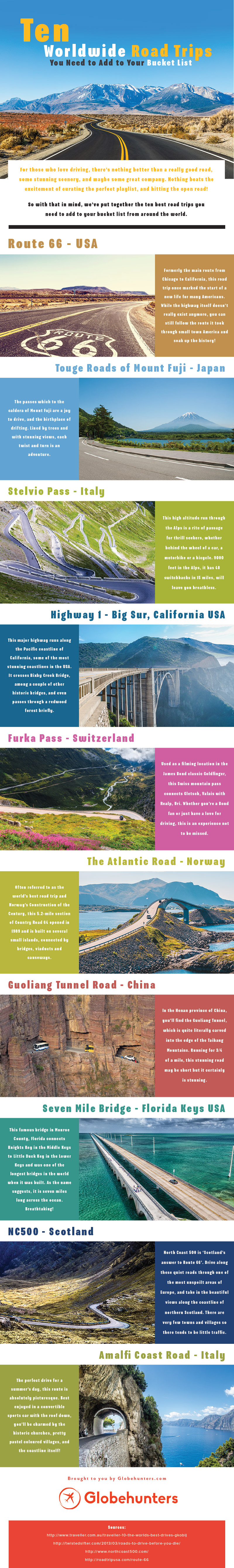 10 Worldwide Road Trips You Need to Add to Your Bucket List [Infographic]